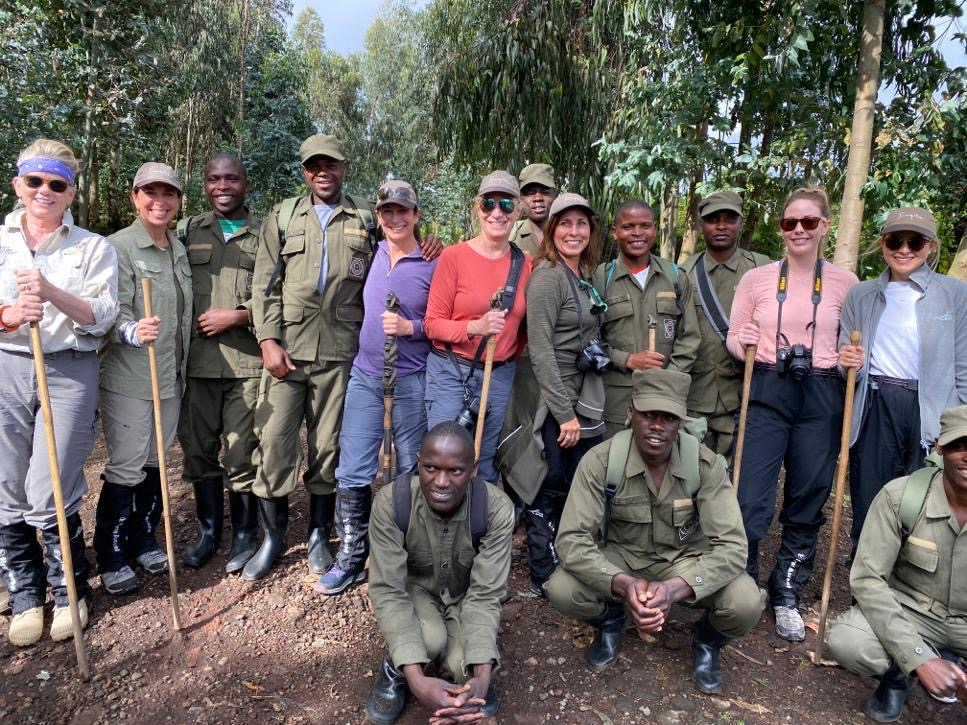 Trackers and porters in Rwanda
