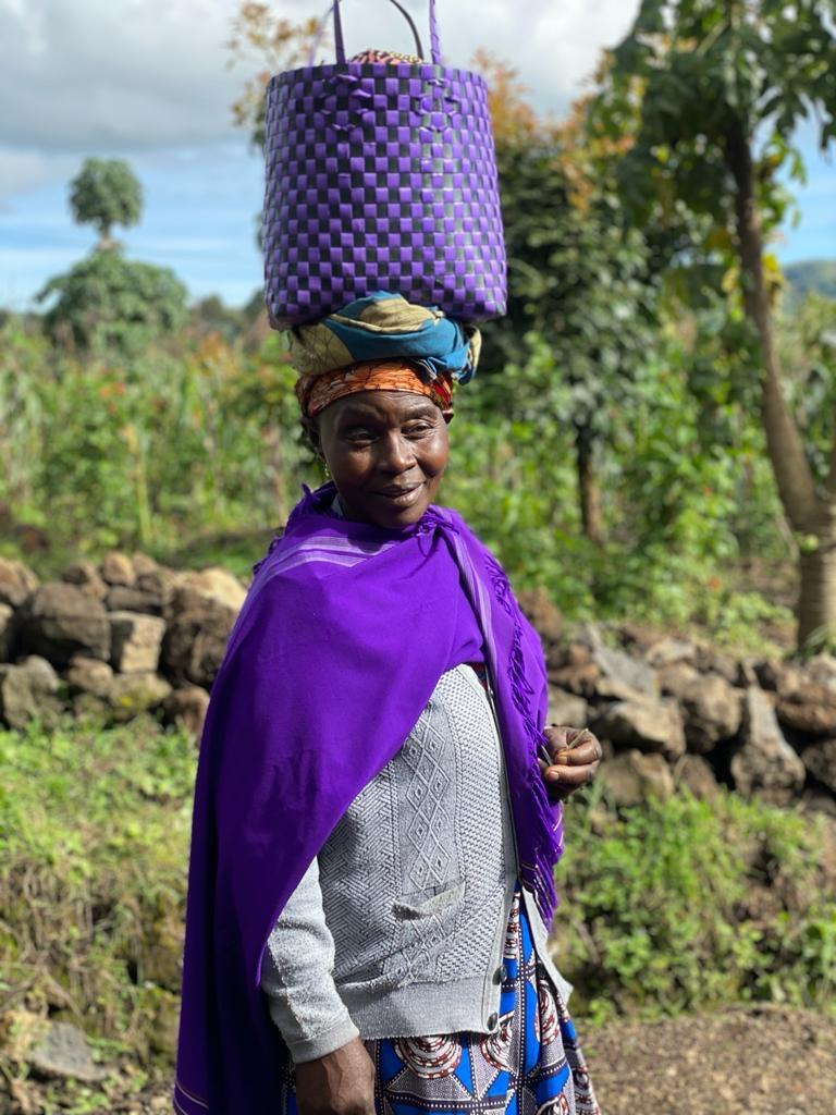 Stunning Rwandan woman in traditional garb