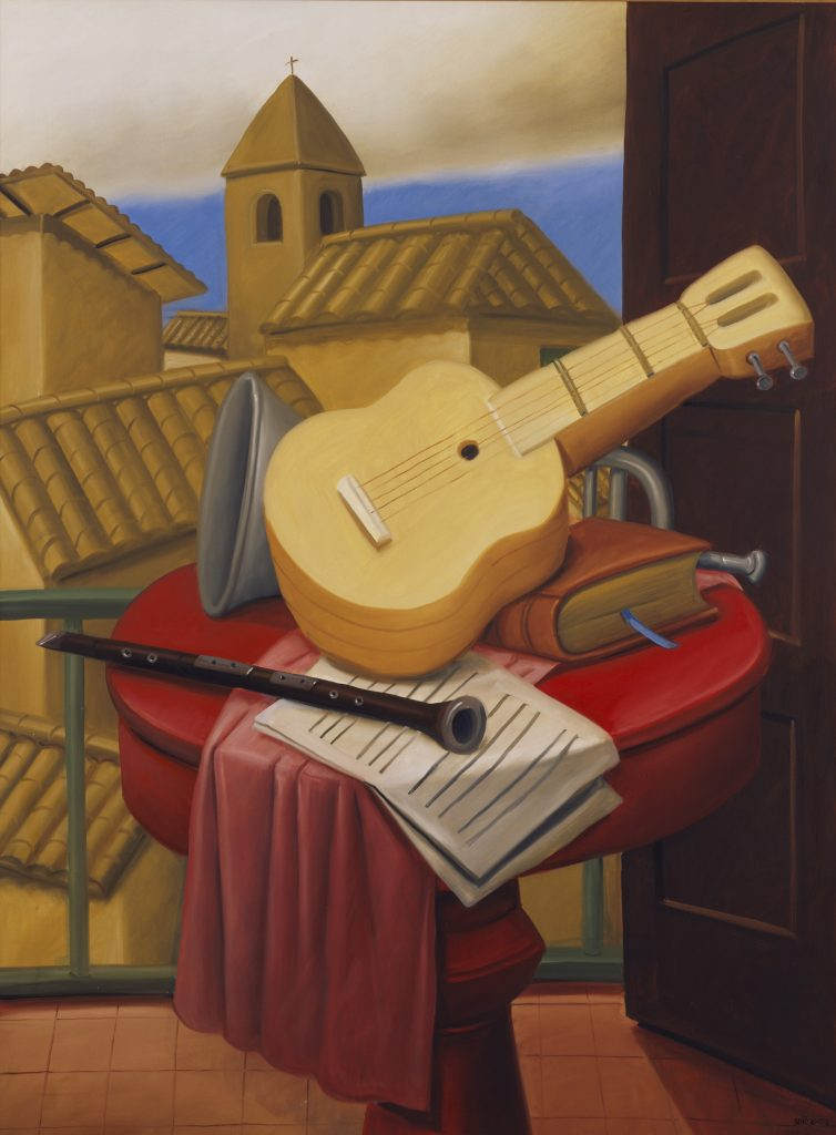 Mandolin on a Chair Botero