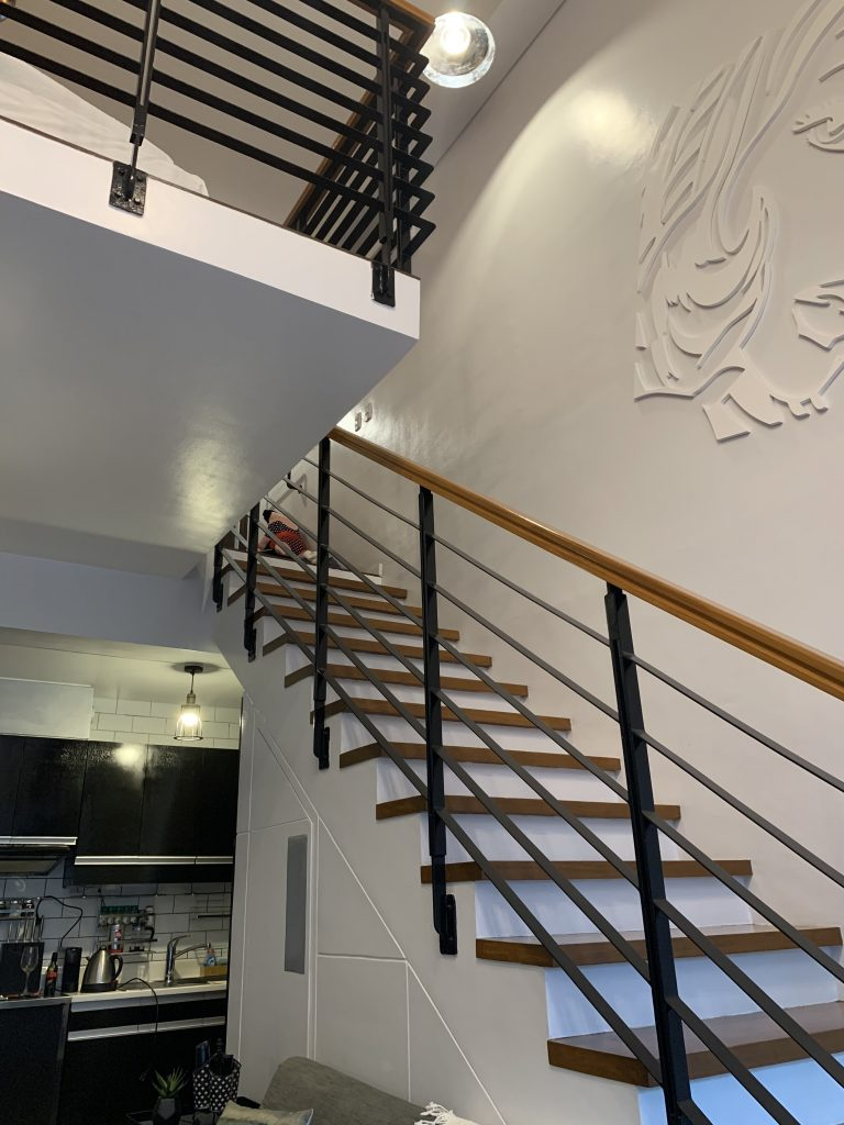 Airbnb loft Manila staircase