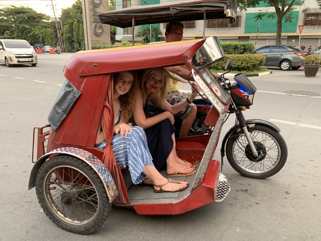 The tricycles in Santa Ana, Manila, the Philippines