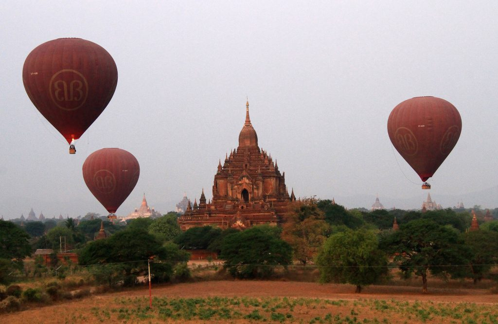 Myanmar Hot air balloons Bagan