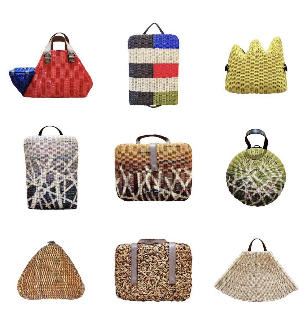 Manila design - woven bags by Rita Nazareno