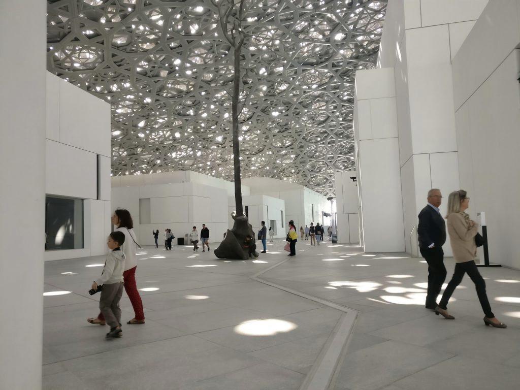 Visitors at Louvre Abu Dhabi