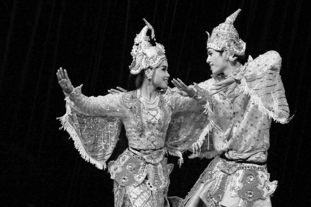 Burmese dance perfomance