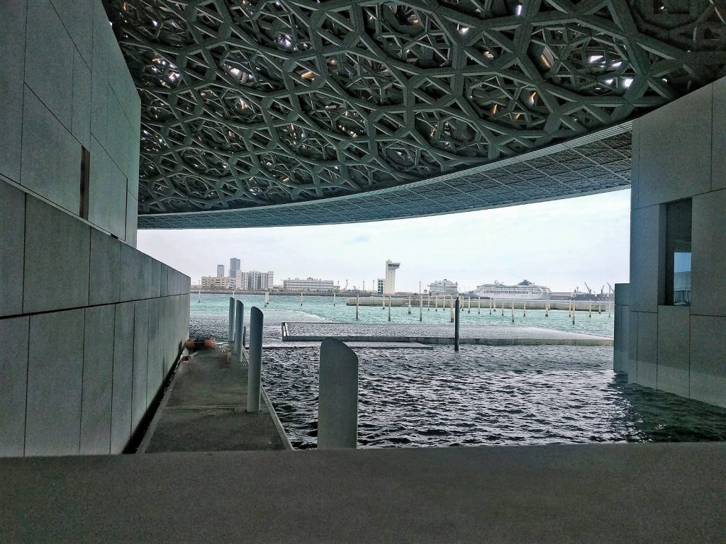 Louvre Abu Dhabi view across the water