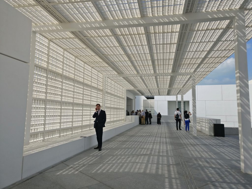 Beautiful light canopy  - Louvre by Jean Nouvel