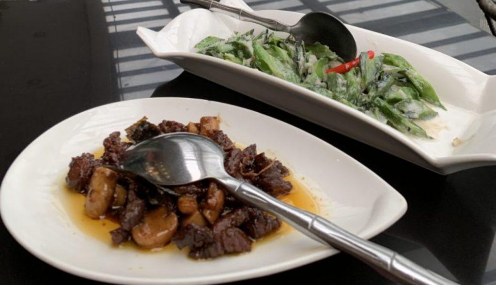 Mesa, Filipino Moderne restaurant ostrich dish