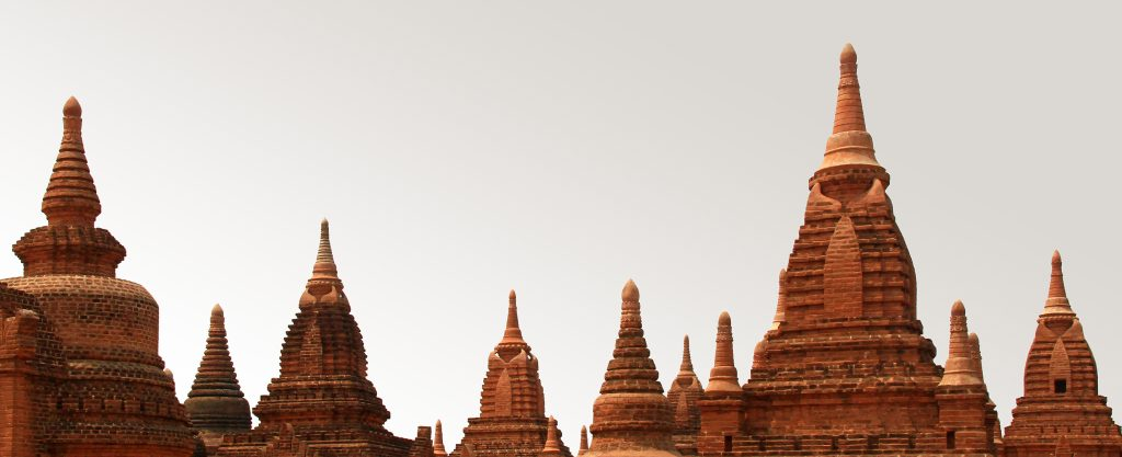 Myanmar - Spires at Bagan.