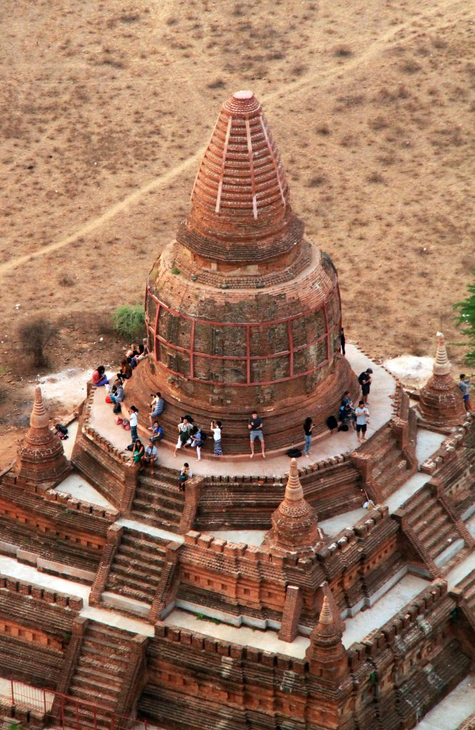 Myanmar - Areal view of Bagan Temple