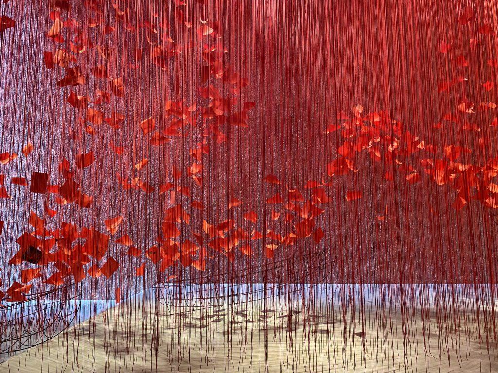 "Chiharu Shiota ""I Hope"" Exhibition in Berlin."