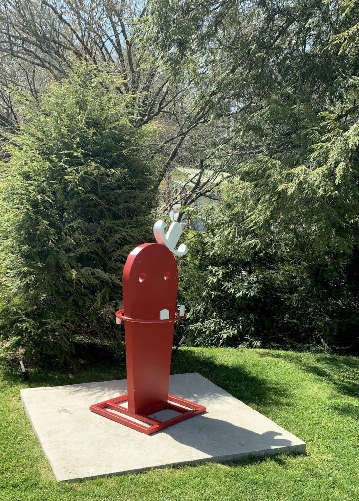 Highlands – The Bascom Art Center Red sculpture