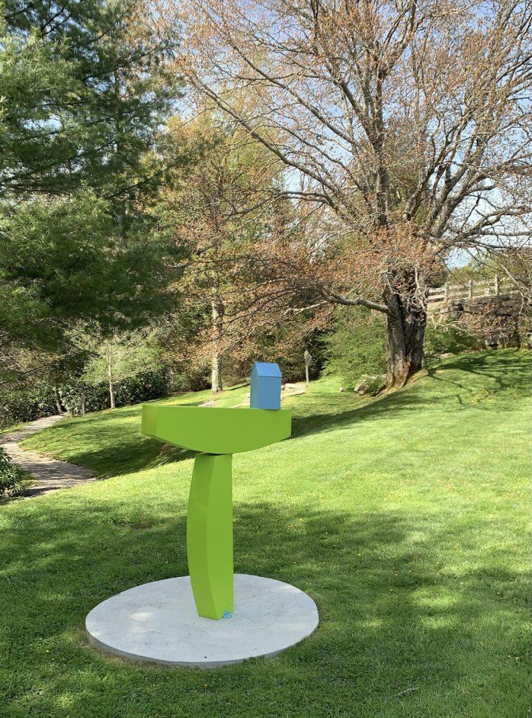 Highlands – The Bascom Art Center, yellow sculpture in the garden