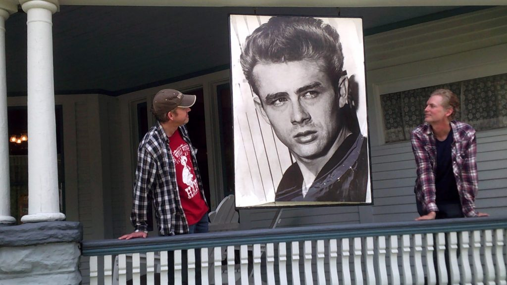 James Dean photo memorial at David Loehr's house.
