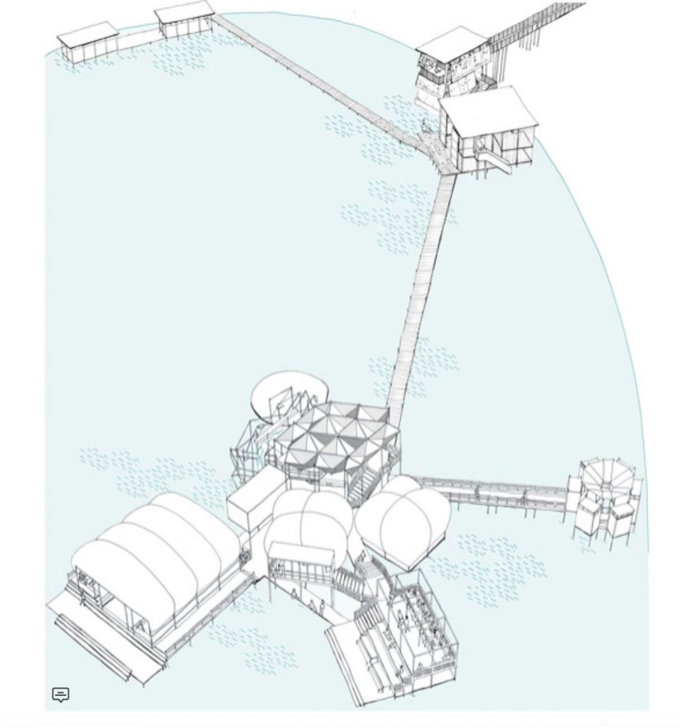 Concept drawing of the Water University