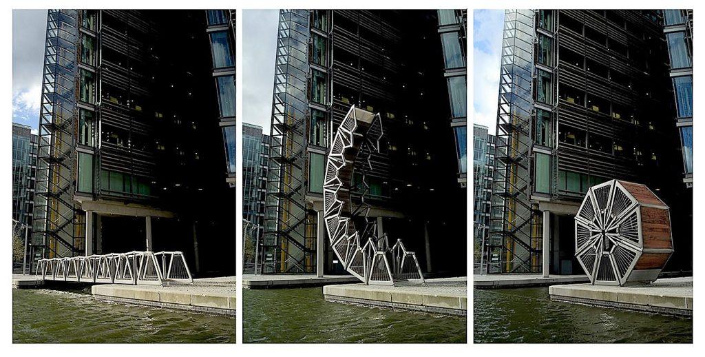 Rolling bridge transformation - Thomas Heatherwick