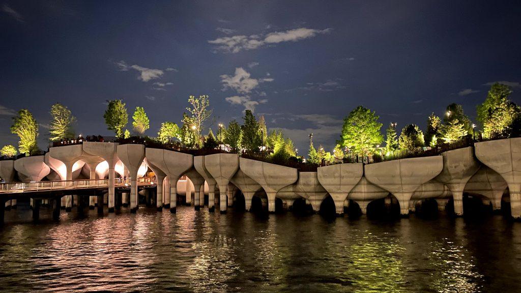 Little Island by Thomas Heatherwick at night by Dragan Strunjas